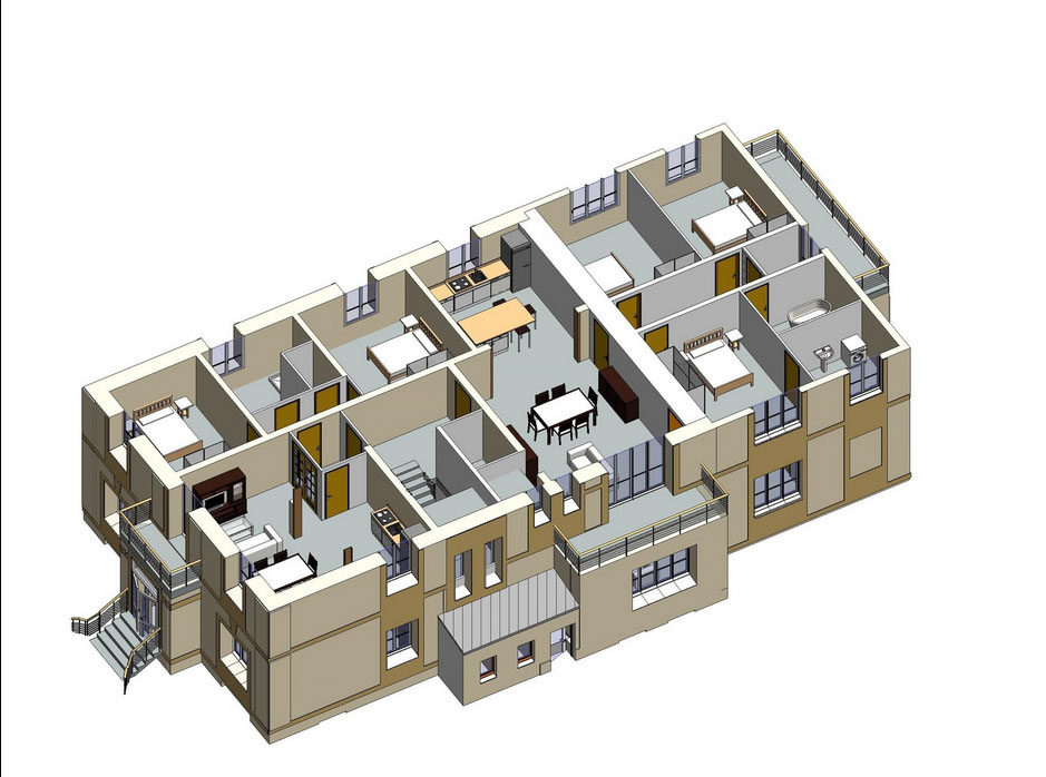 Plans 3D R+1 Projet appartements Soissons