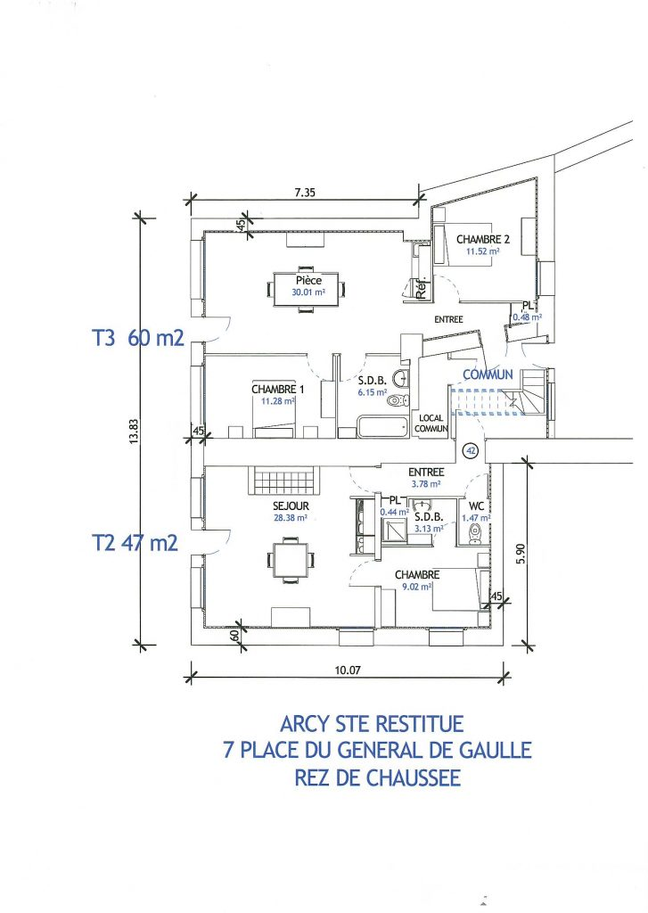 Plan Arcy Sainte Restitue