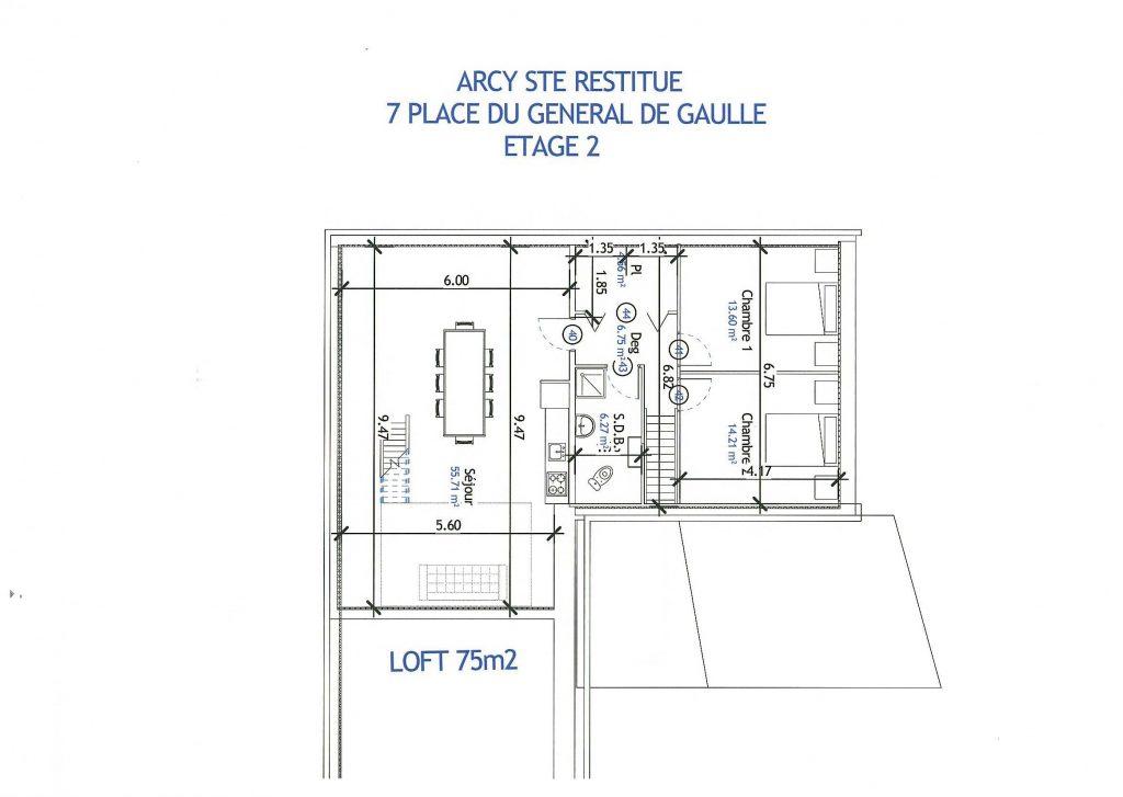plan loft vefa Arcy Sainte Restitue